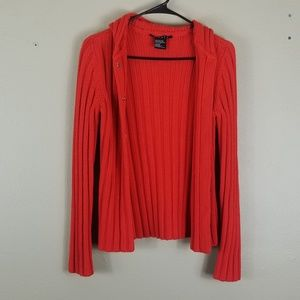 Theory Burnt Orange / Red 100% Wool Cardigan